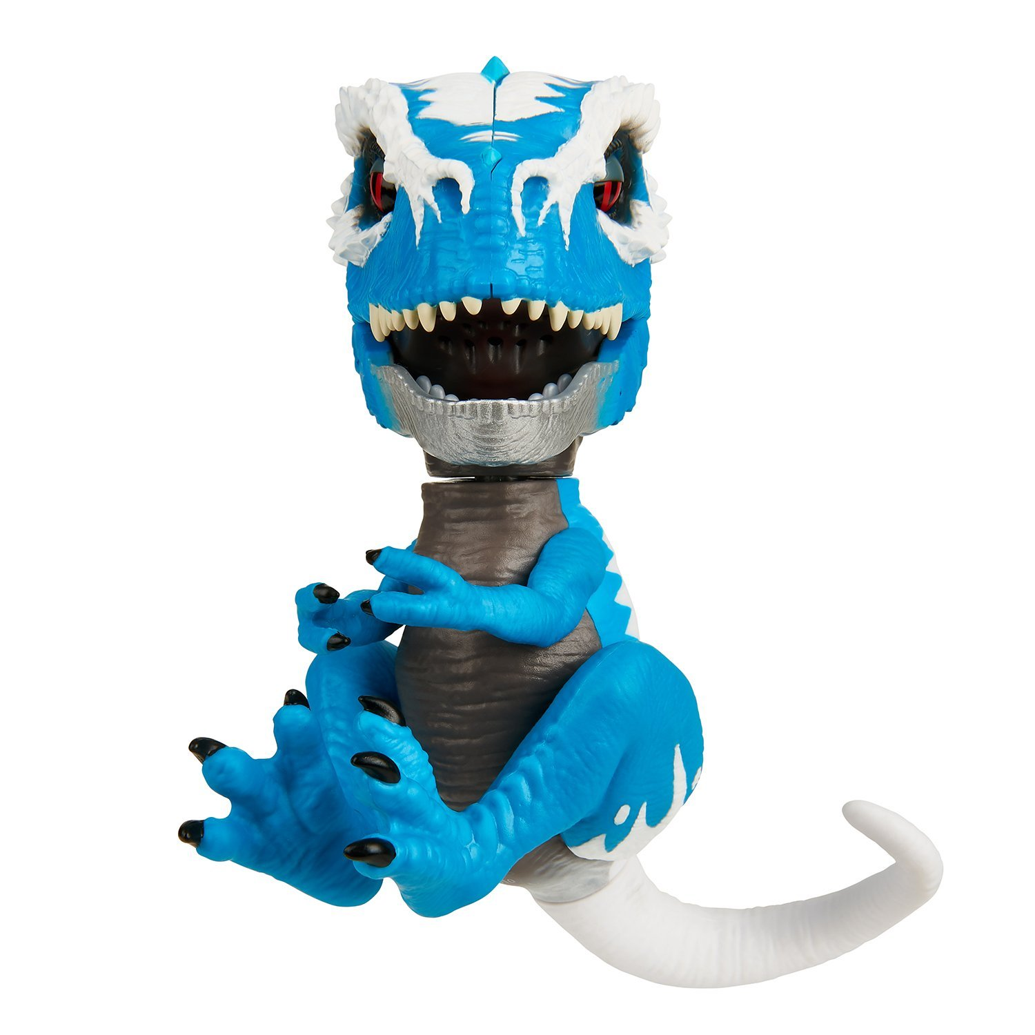 WowWee Untamed T-Rex by Fingerlings Ironjaw (Blue) -Interactive Collectible Dinosaur by WowWee (Image #4)