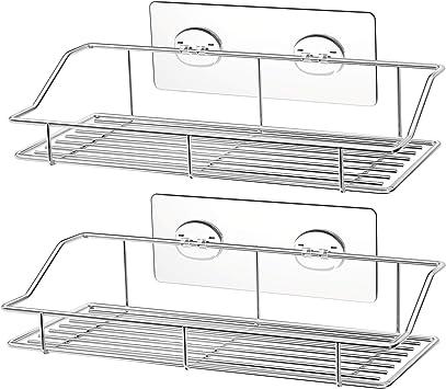 Amazon.com: SMARTAKE - Estante adhesivo para ducha (2 ...