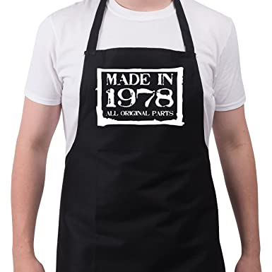 Mens 40th Birthday Gift Apron Made In 1978 Aprons Gifts For Men
