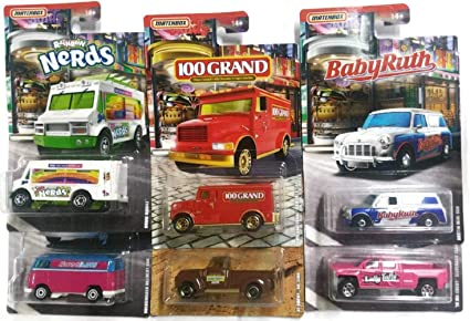 2019 MATCHBOX CANDY SERIES RAINBOW NERDS CHOW MOBILE WHITE