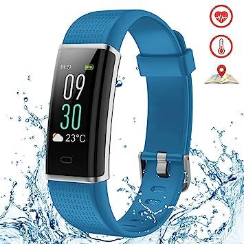 Kybeco Fitness Tracker - Pulsera Impermeable con Monitor de frecuencia cardíaca, Contador de calorías,