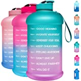 Venture Pal Motivational Water Bottle with Time Marker - 1 Gallon/ 128 Oz Reusable Water Jug with Handle and Measurement Scal
