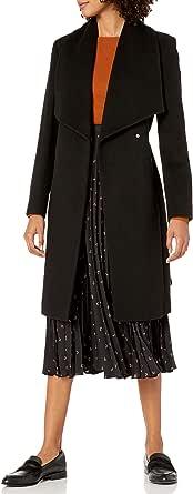 Cole Haan Womens 357SW557 Slick Wool Wrap Coat Wool Coat