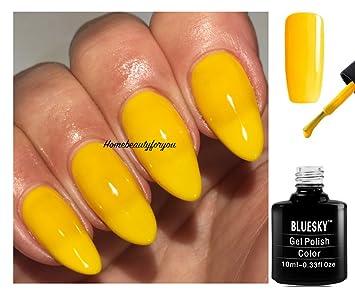 Bluesky 80638 Banana Clips Bright Yellow Nail Gel Polish UV LED Soak Off 10ml PLUS 2