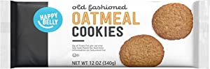 Amazon Brand - Happy Belly Old Fashioned Oatmeal Cookies, 12 Ounce