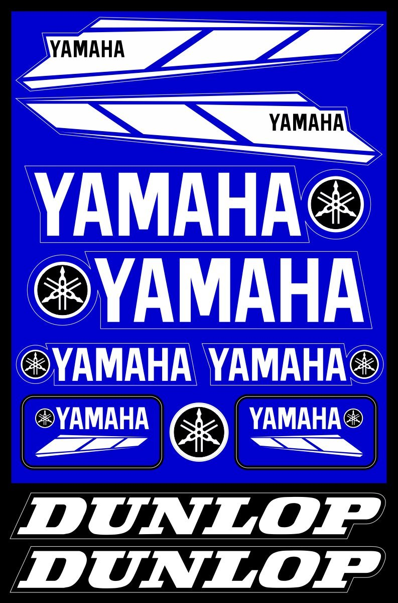 Amazon com yamaha decals stickers motorcycle vinyl graphic set arts crafts sewing