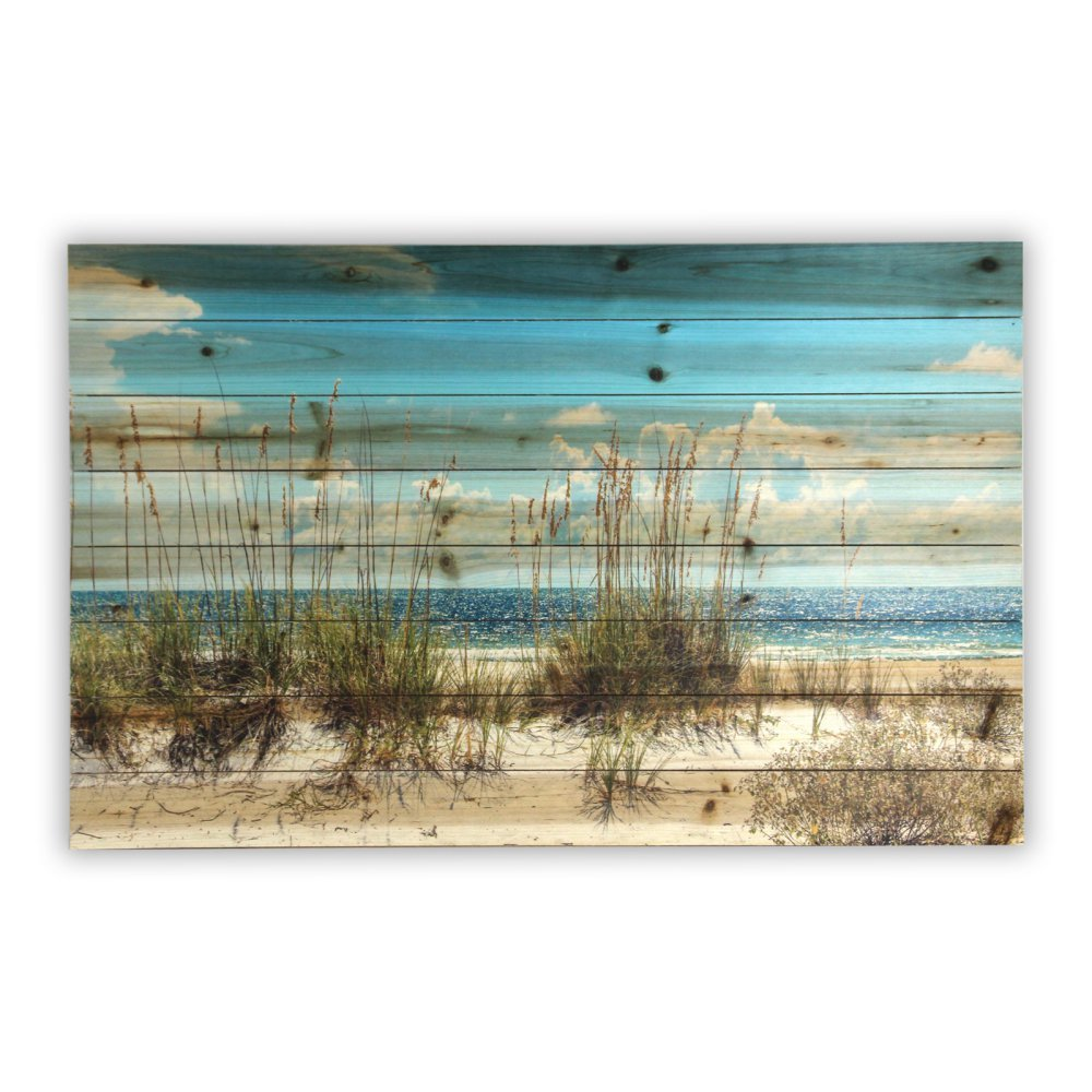 Gallery 57 Sand Dunes Print on Planked Wood