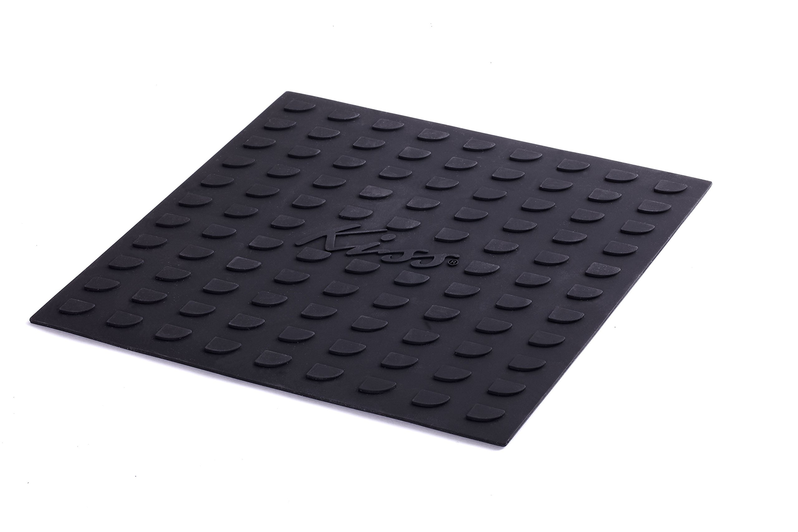 "Kiss Products Heat Resistant Silicone Protexion Mat For All Hair Irons and Hot Styling Tools 10"" x 10"""