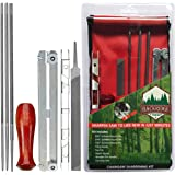 Chainsaw Sharpener File Kit – Includes Flat, 5/32, 3/16, 7/32 Inch Round Files, Depth Gauge Tool, Filing Guide, Wood Handle &