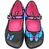 Hot Chocolate Design Chocolaticas Dark Butterfly Women's Mary Jane Flat