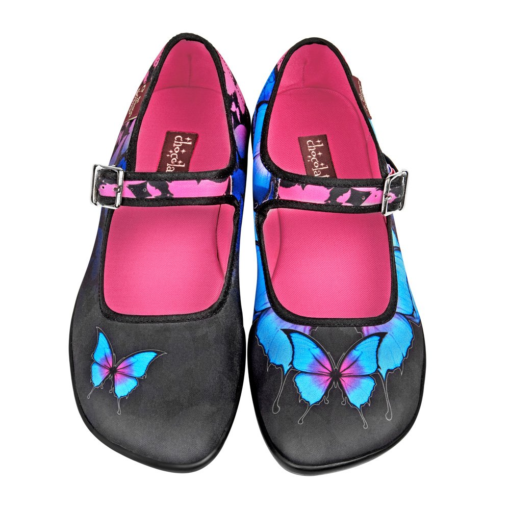 Hot Chocolate Damen Design Chocolaticas Dark Butterfly Damen Chocolate Mary Jane Halbschuhe d09574