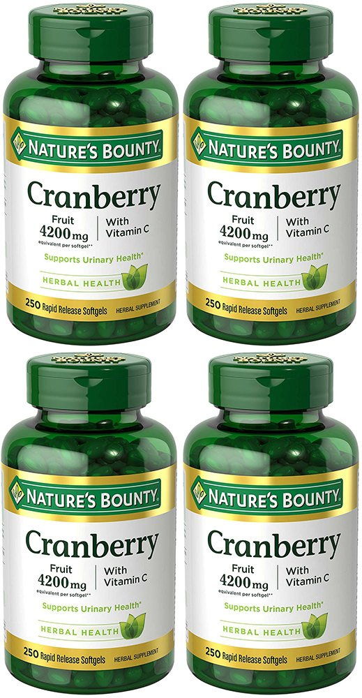 Cranberry MDfizK with Vitamin C 4200 mg, 250 Softgels (4 Bottles)
