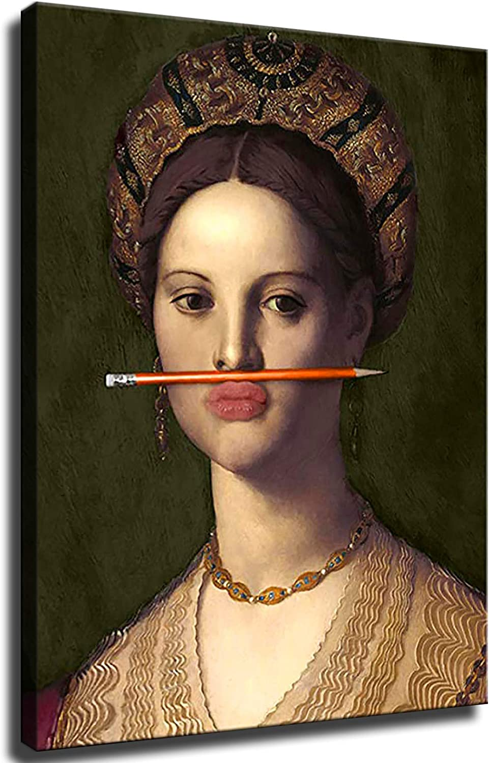 GREAT Modern Wall Poster Art Print Oil Painting on Canvas Home Decor Wall Decoration Canvas Art renaissance baroque painting portrait (Framed-Ready to Hang,20×27inch)