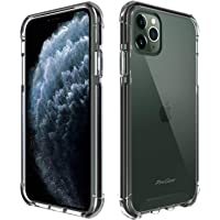ProCase Clear Case for iPhone 11 Pro, Slim Hybrid Case with Shockproof TPU Frame + Crystal PC Cushion Reinforced Corners, Transparent Anti-Scratch Protective Case for iPhone 11 Pro 5.8 inch 2019-Clear