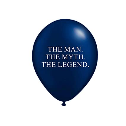 b1bc398e9115 Amazon.com  The Man The Myth The Legend Balloons in Navy Blue and ...