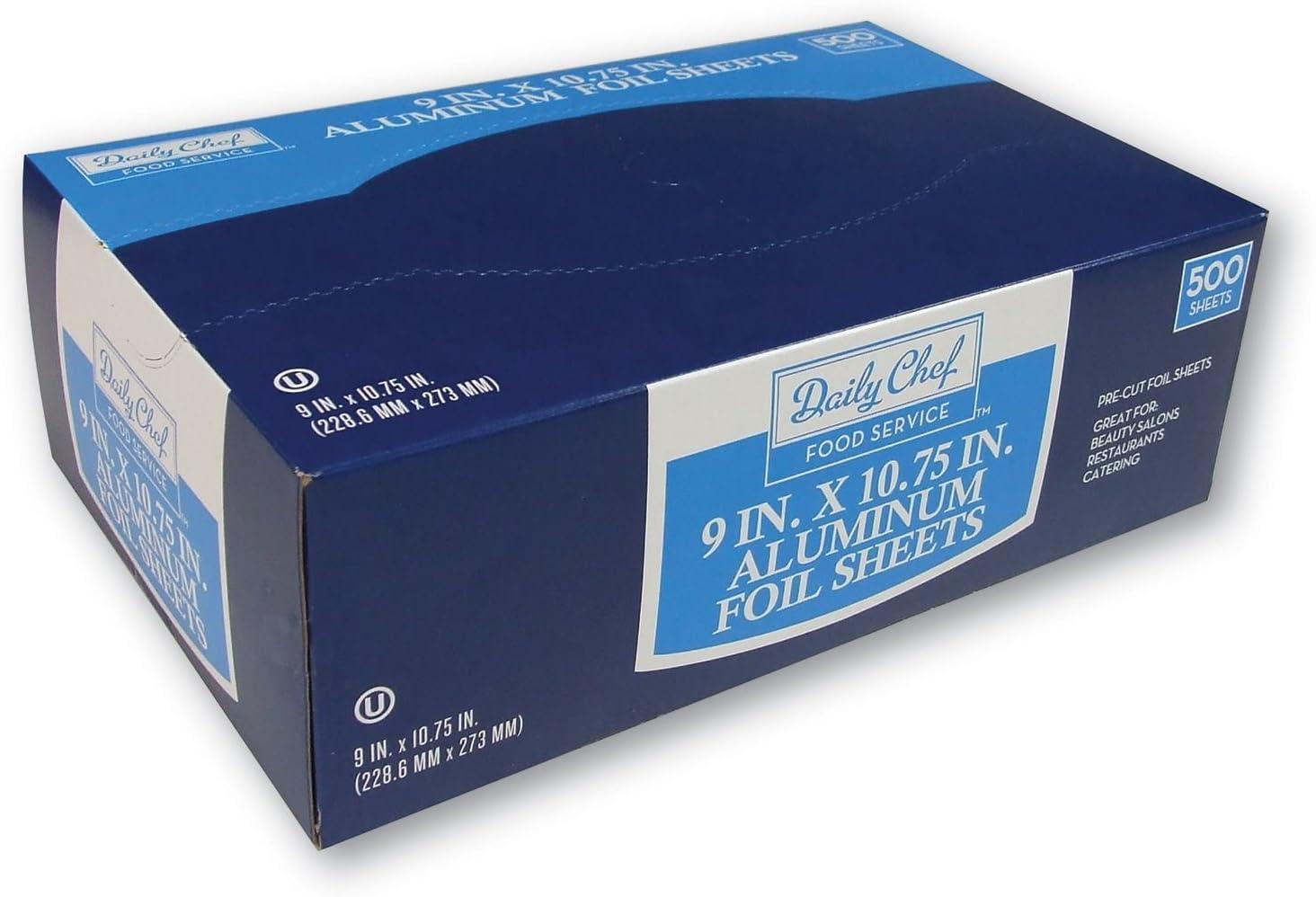 "Daily Chef Foil Sheets, 500 Count 22.9cm x 27.3 cm (9"" x 10 3/4"")"