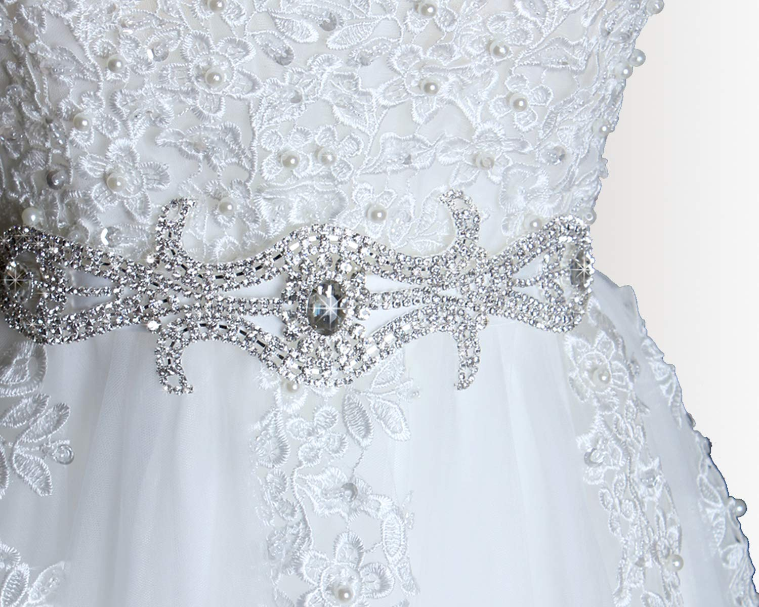 Amazon Com Wedding Dress Sash Rhinestone Belt Bridal Sash