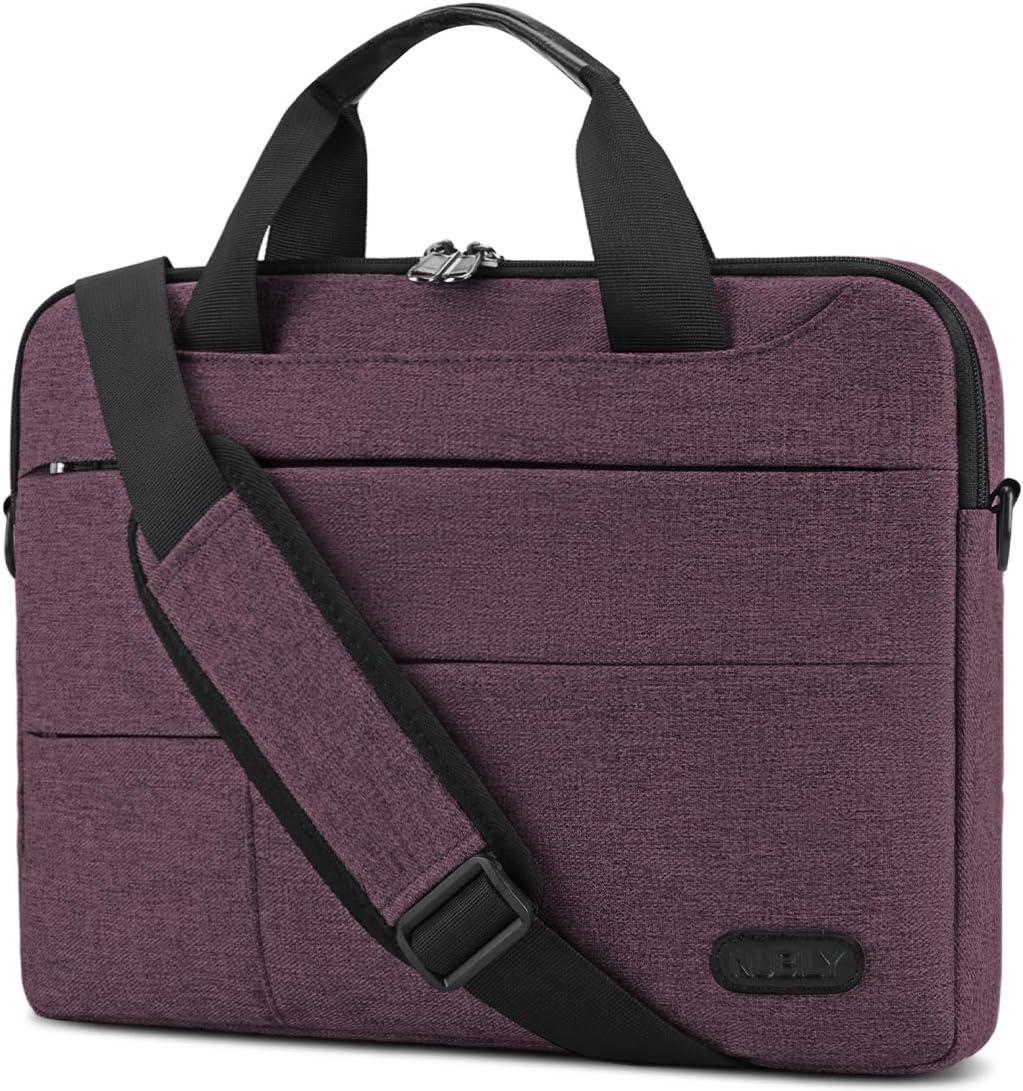 Laptop Bag for Men 13.3/14 inch Computer Sleeve Carrying Surface Laptop Case Water Repellent Briefcase Work Business Messenger Shoulder Bag Tablet Handle Case, Notebook Claret