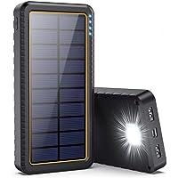 Dywill Cargador Solar 26800mAh, Batería Externa Solar con Entrada Tipo C y 2 Salidas USB, Power Bank Solar de Carga…