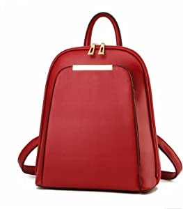Backpack Women Black Back Pack School Bags Teenage Girls Gold Pu Burgundy