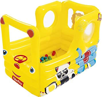 Bestway 93506 - Piscina de Bolas Hinchable Fisher Price Autobús ...