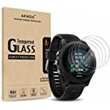 (Pack of 4) Tempered Glass Screen Protector for Garmin Forerunner 935, Akwox [0.3mm 2.5D High Definition 9H] Premium…