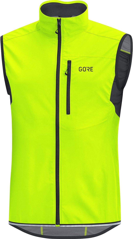 Neon Gelb L GORE WEAR C3 Herren Weste GORE WINDSTOPPER