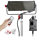 Aputure Light Storm LS 1/2w CRI98 264 LED Video Light Panel Ultra-Small Ultra-Thin with V-mount Plate and DMX512 Connector for Perfect Color