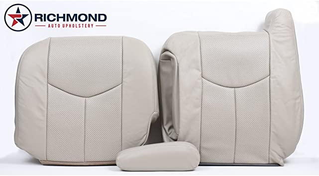 amazon com richmond auto upholstery driver side complete replacement leather seat covers tan compatible with 2004 2006 cadillac escalade esv platinum automotive richmond auto upholstery driver side complete replacement leather seat covers tan compatible with 2004 2006 cadillac escalade esv platinum