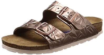 ce1e4a2d4b73 Birkenstock Unisex Arizona Soft Footbed Embossed Leather Spectral Copper  Sandals 5 W   3 M US