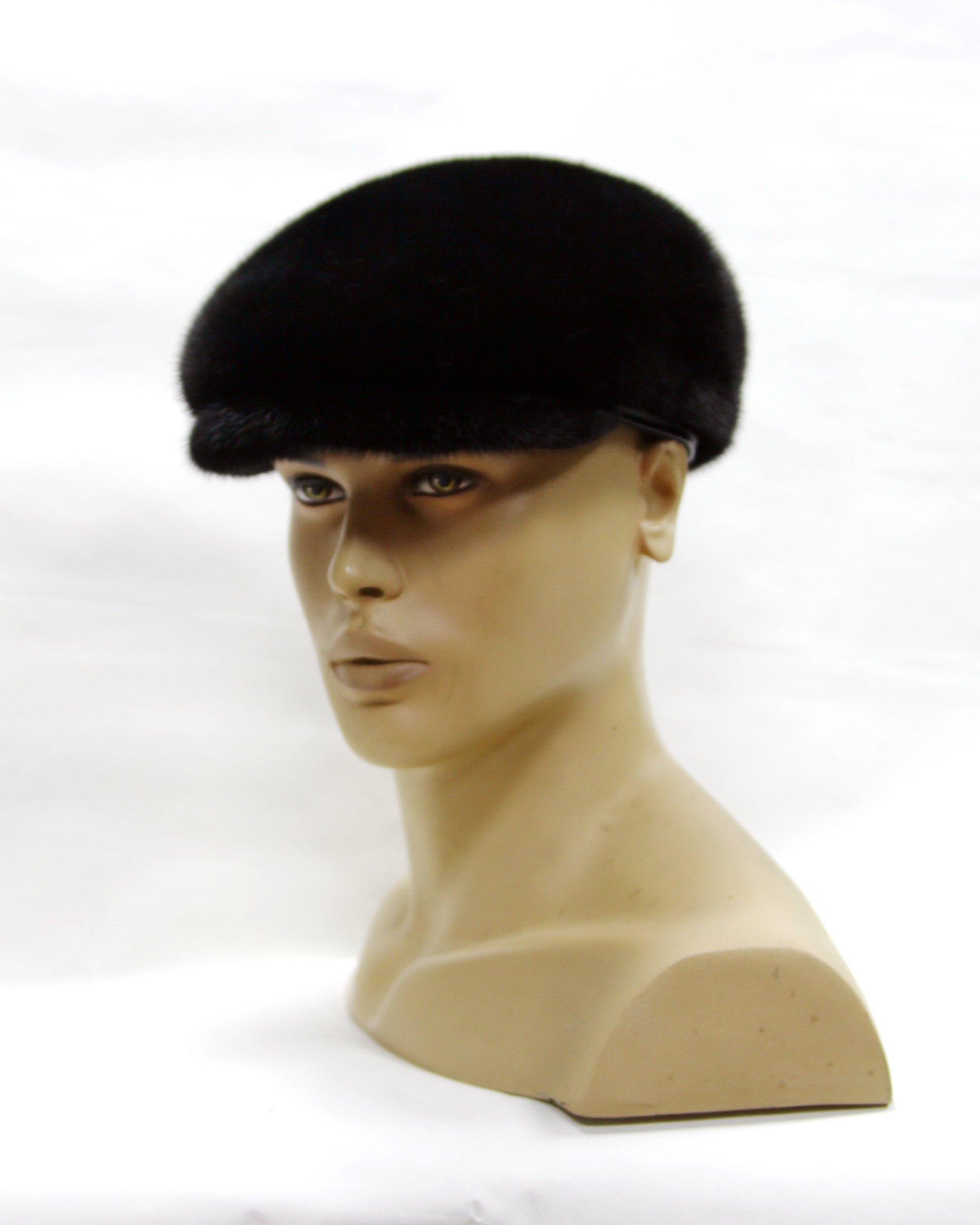Stylish Men's Flat Cap Made Of Natural Mink Fur