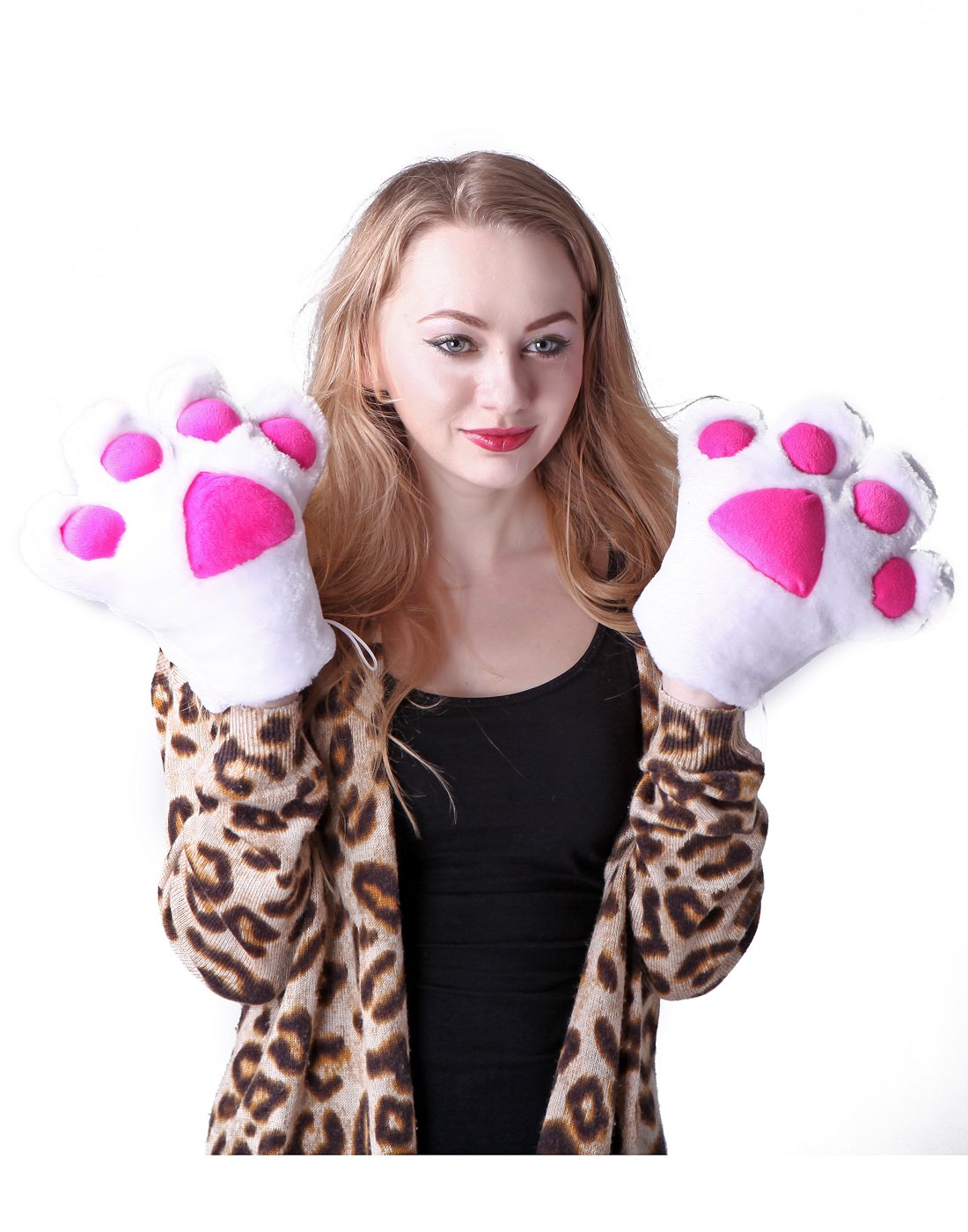 Amazon.com HDE Adult Halloween Costume Cosplay Cute Soft Kitty Cat Girl Paw Gloves (White) Toys u0026 Games  sc 1 st  Amazon.com & Amazon.com: HDE Adult Halloween Costume Cosplay Cute Soft Kitty Cat ...