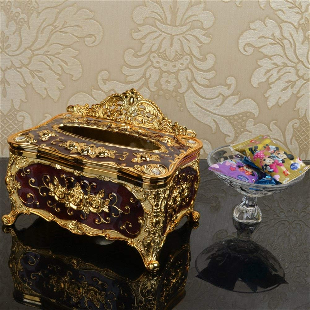 Cube Scatola del Tessuto titolari Dispenser Cassa della Scatola per Soggiorno Camera da Letto LiQinKeJi8 Creativo Vintage Tissue Box Cover Color : Coffee, Size : 18X13.2X10.4cm
