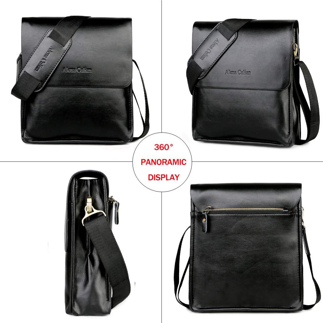black Messenger Bag For Men Classic Business Crossbody Shoulder Bags Casual Man Bag