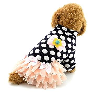 Buy Smalllee Lucky Store Small Dog Dress Tutu Skirt Polka Dots