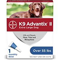 K9 Advantix II Flea and Tick Prevention for Extra-Large Dogs, Over 55 Pounds