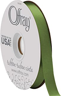 product image for Double Face Satin Ribbon, 50 Yards, Leaf Green