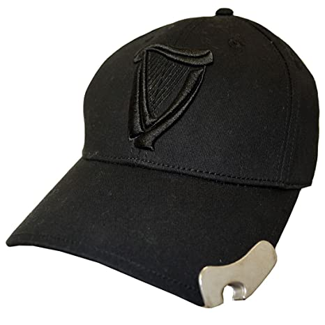b39ec1820 Guinness Black 3D Harp Bottle Opener Baseball Cap