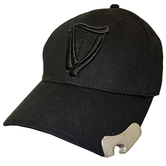 2c5efd0fe Guinness Black 3D Harp Bottle Opener Baseball Cap(Size: One Size ...