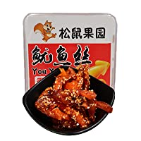 Dried Squid Snack, Roasted Shredded Squid Sweet and Spicy Flavoured, Asian Snacks ON THE GO, Office Casual Snack, for Jobs and Party Casual, 3.35 Ounce