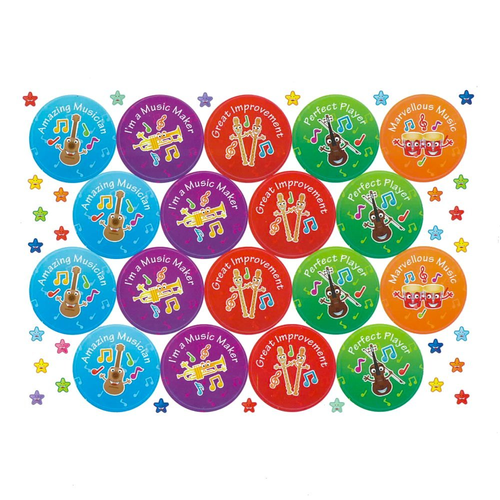 70 Amazing Musician Reward Praise Stickers Teacher Parents Children