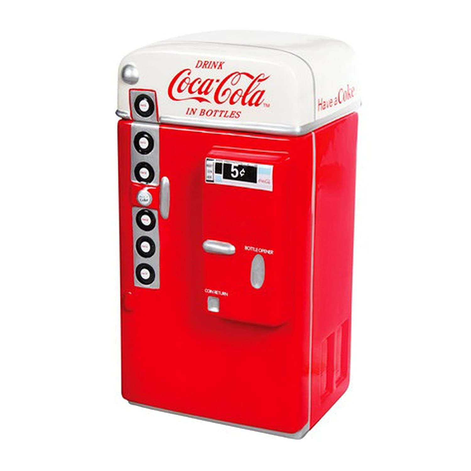 Gibson Coca Cola Vending Machine Cookie Jar & Lid