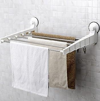 Toallero Simple Fuerte baño lechón de Toallas de baño Barra de Toalla toallero de Acero Inoxidable retráctil Colgando de Toallas Toallero de Personalidad: ...