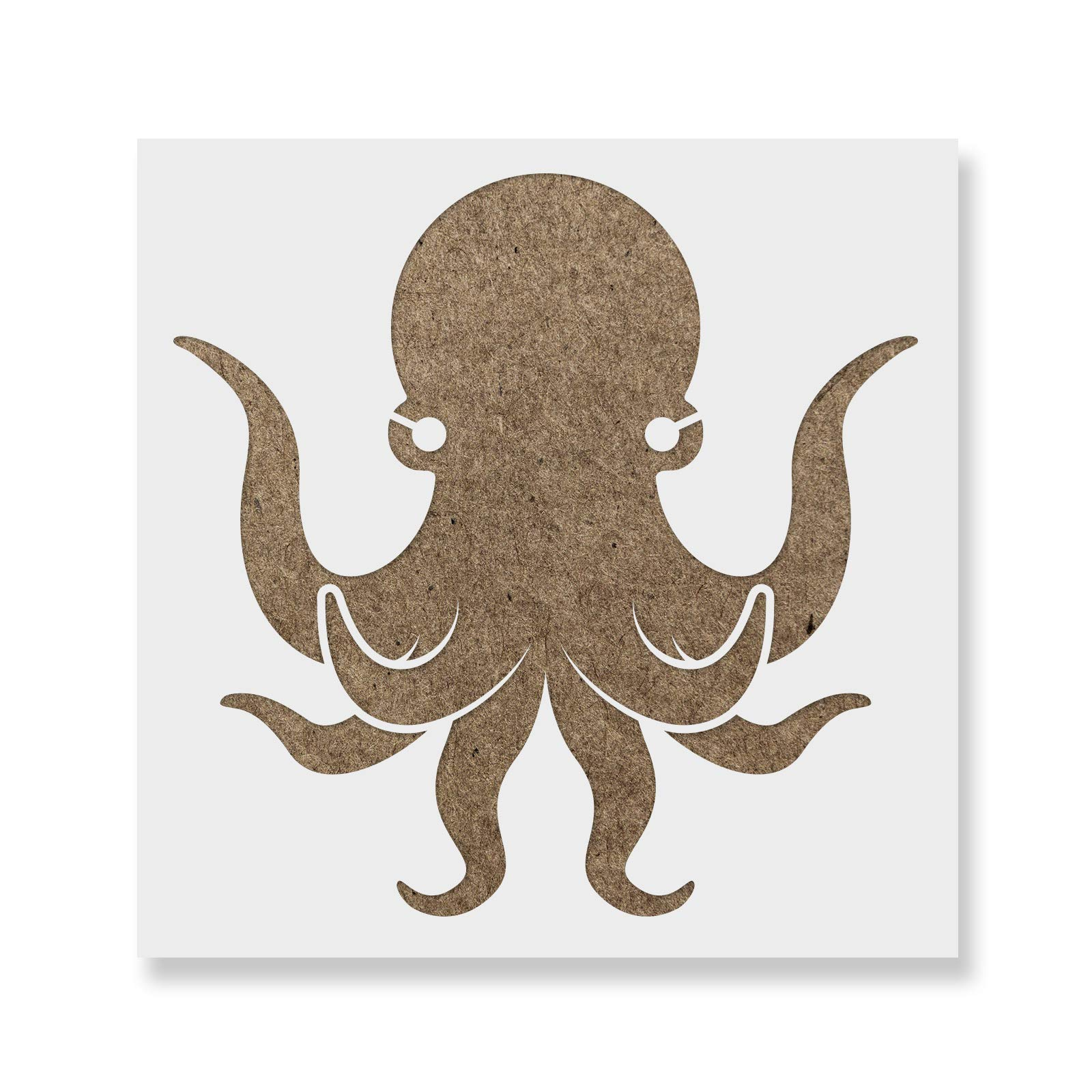 Octopus Stencil Template - Reusable Stencil with Multiple Sizes Available