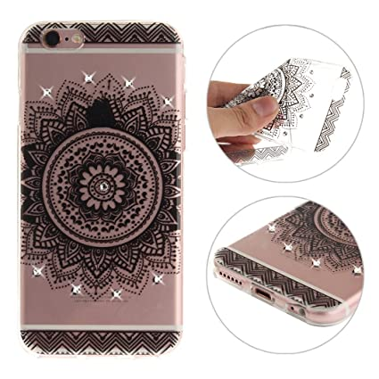 iPhone 6S funda, lazo rosa iPhone 6 Crystal Case Funda ...