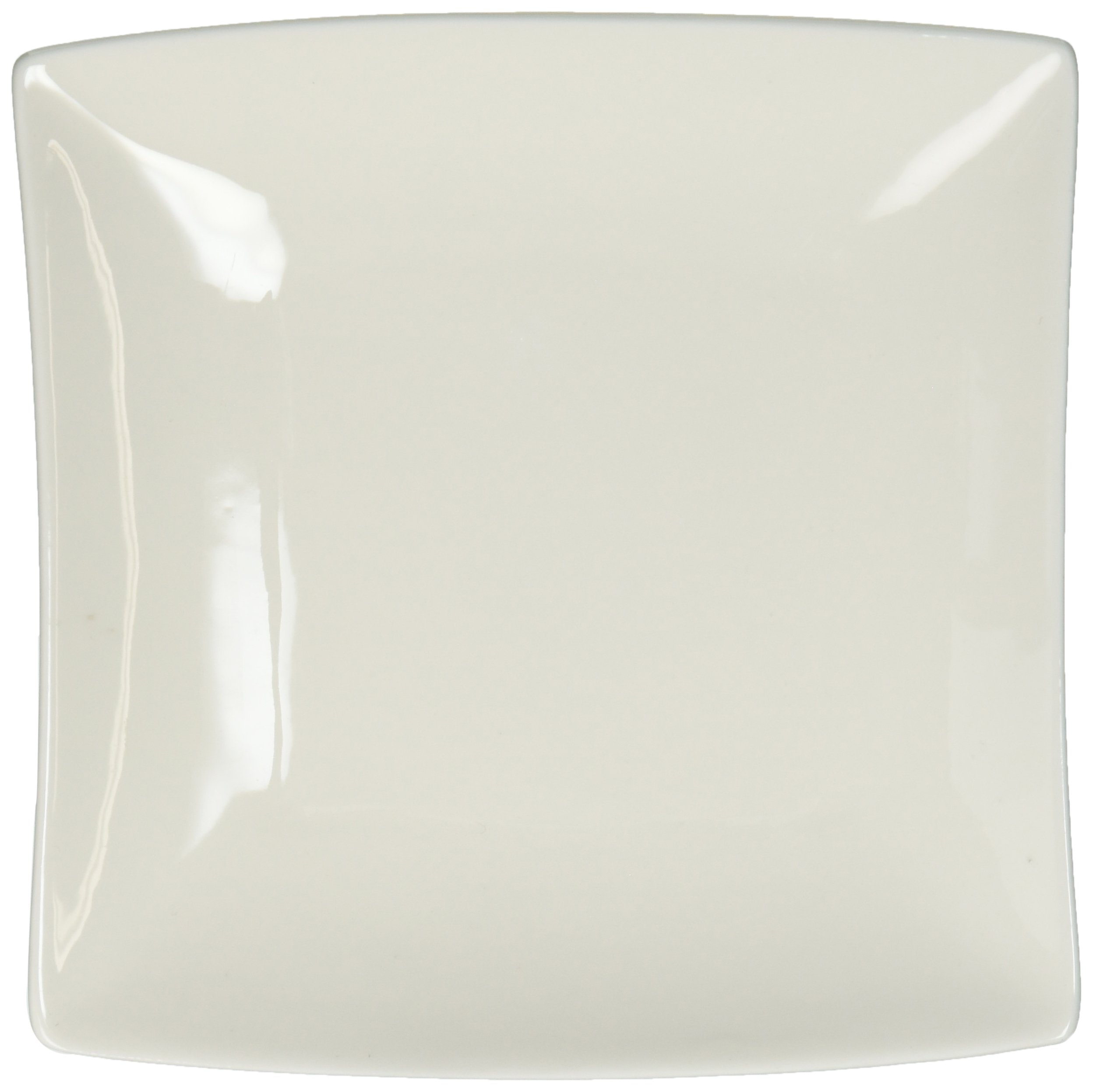 White Basics Collection, East Meets West Square Plate, 5.5'', White