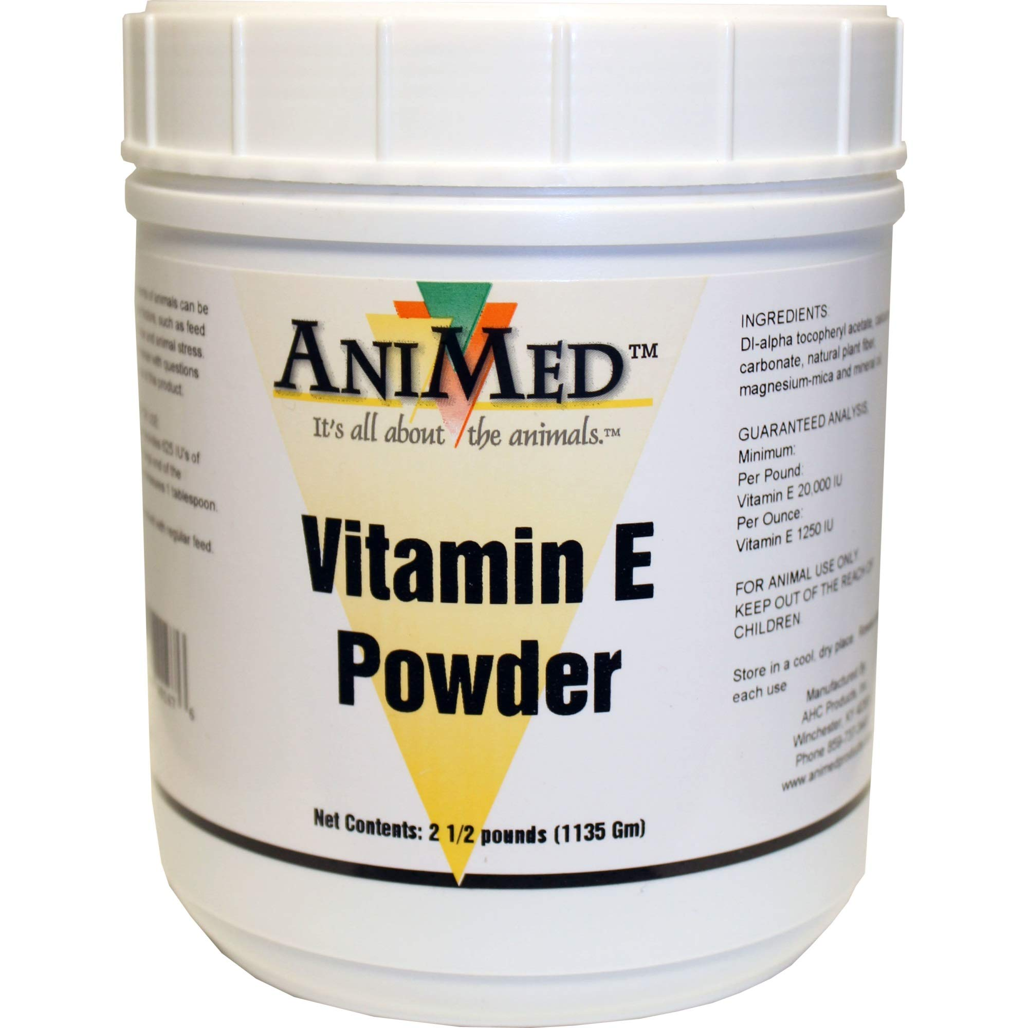 AniMed Vitamin E Powder Supplement for Horses, 2.5-Pound by AniMed