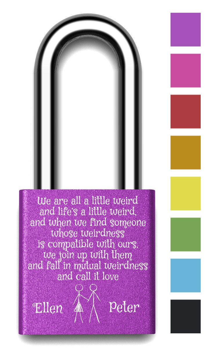 Customizable MakeLoveLocks - Mutual Weirdness Love Lock 2'' Purple