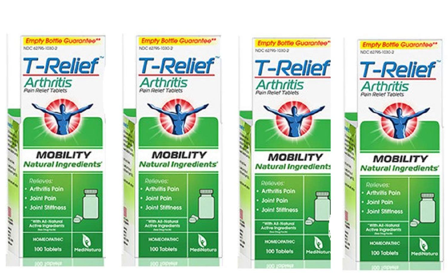 T-Relief Arthritis Pain Relief, 100 Tablets (Pack of 4) by T-Relief