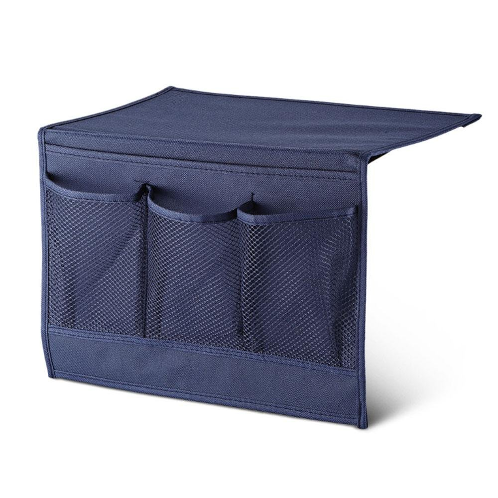 Pawaca Porta-oggetti da applicare sul fianco del letto, contenitore da tavolo, da armadio, da comodino, raccoglitore con tasche per telecomandi Marina Militare